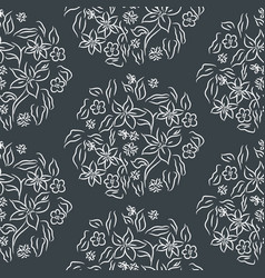 seamless pattern floral print vector image
