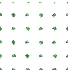 Seamless watercolor background with green clover vector