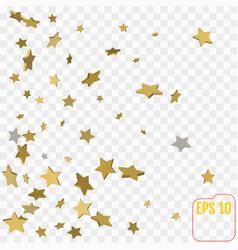 Shimmering stars confetti on transparent sky vector