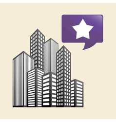 Smart city design technology icon multimedia vector