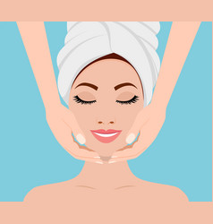 spa skin and body care vector image
