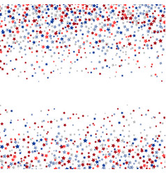 Stars confetti in red white and blue vector