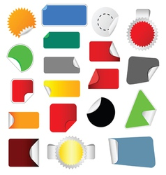 sticker color vector image