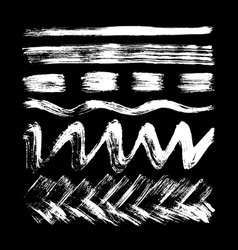 stripes lines waves drawn in white chalk vector image