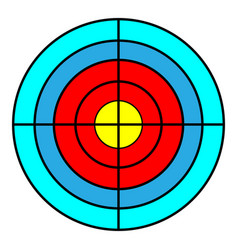 target for a tripod goal achieve concept vector image