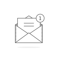 Thin line email notification icon vector