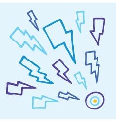 Thunderbolt target vector image