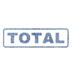 Total textile stamp vector