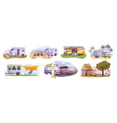 trailer park set vector image