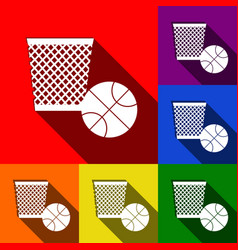 trash sign set of icons with vector image