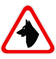 triangular yellow warning hazard symbol vector image
