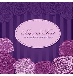 Valentine flower stripe invitation love card vector image