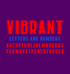 vibrant letters and numbers with currency signs vector image