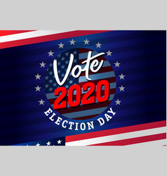 vote 2020 presidential election usa round emblem vector image