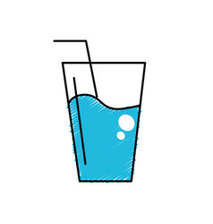 Water glass to freshness and healthylife vector