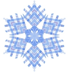 Watercolor snowflake on white background vector image