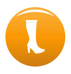woman boots icon orange vector image