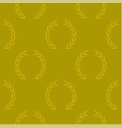 Yellow wheat seamless pattern vector