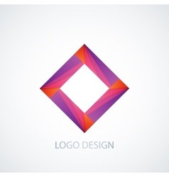 abstract logo square vector image vector image