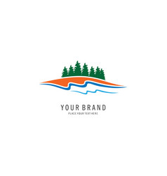 pine forest logo vector image