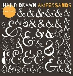 Set of hand drawn ampersands Ink vector image vector image