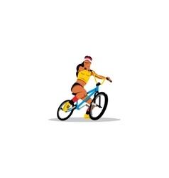 Sexy Girl on Bike sign vector image vector image