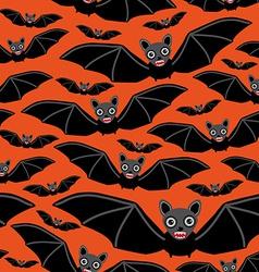 Vampire bats on orange background vector image vector image