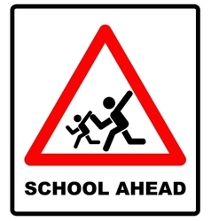 warning school sign vector image vector image