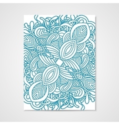 Abstract poster with hand drawn ornament vector image vector image