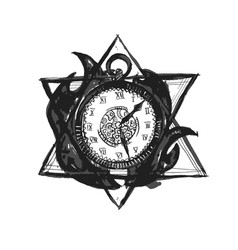 burning time watch vector image