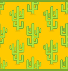 cactus in desert seamless pattern large peyote vector image vector image
