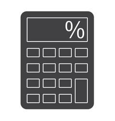calculator silhouette vector image