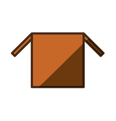 delivery open box vector image