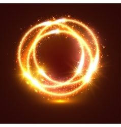 Light flashes and sparkler lights circles vector image vector image