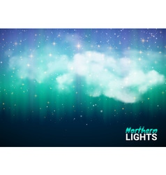 Magic Fabulous Night Sky with Clouds and Realistic vector image