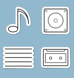 music line icon set vector image vector image