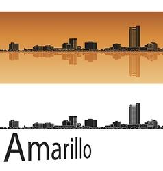 Amarillo skyline in orange vector image