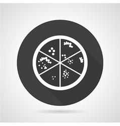 Bacteria colonies black round icon vector image vector image