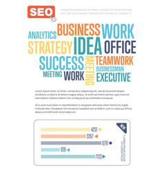 Business infographics banner with diagram vector