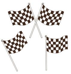 Checkered flag drawing vector image vector image
