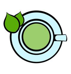 green tea cup icon icon cartoon vector image
