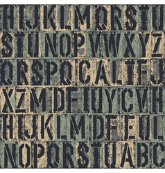 grunge block letters background vector image vector image
