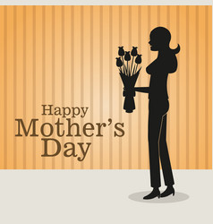 happy mothers day-mom bouquet flowers vector image vector image