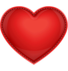 Leather pillow heart vector