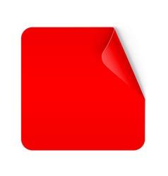Paper sticker vector image