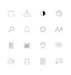 set of 16 universal icons vector image