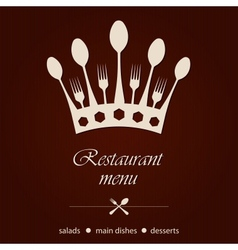 template for a restaurant menu vector image vector image