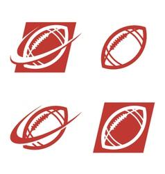 American football logo icons vector