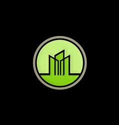 cityscape building abstract logo vector image vector image