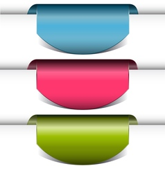 Colorful arrows stickers vector image